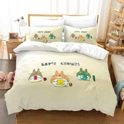 Kawaii Totoro Bedding 2/3 Pcs Bedding Set