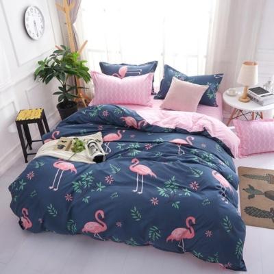 Kawaii Flamingo Blue Pink 3/4 Pcs Bedding Set