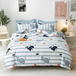 Kawaii Whale 3/4 PCS Bedding Set