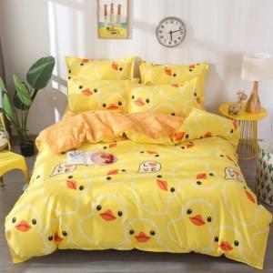 Kawaii Duck Yellow 3/4pcs Bedding Set