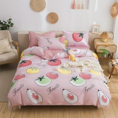 Kawaii Fruits Cute Pink Bedding Set