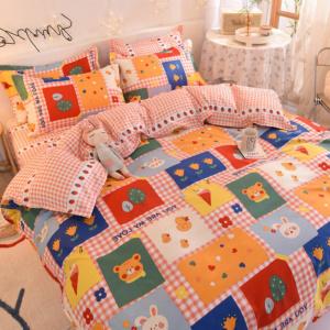 Kawaii Multicolor Preppy Plaids 3/4 PCS Bedding Set