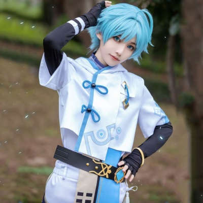 Kawaii Chongyun From Genshin Impact Halloween Cosplay Costume