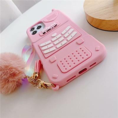 Kawaii Cute Aesthetic Retro Pink Silicone Phone Case Iphone