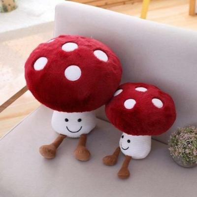 Kawaii Happy Mushroom Red Plush