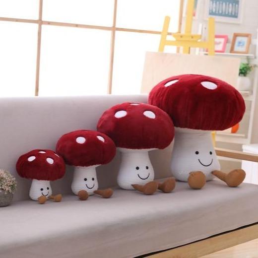 Kawaii Red Mushroom Plush   New