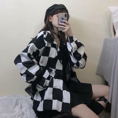 Kawaii Chess Board Checker Kpunk Coat