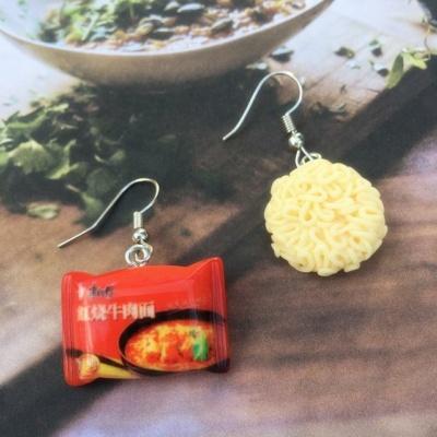 Kawaii Instant Noodle Charm Earrings
