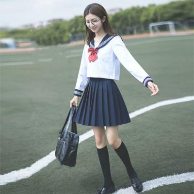 Kawaii Sailor Girl Two Piece Shirt & Skirt Set