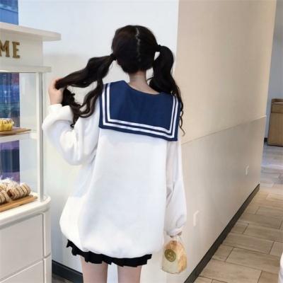 Kawaii Sailor Anime Blue Collar Sweater