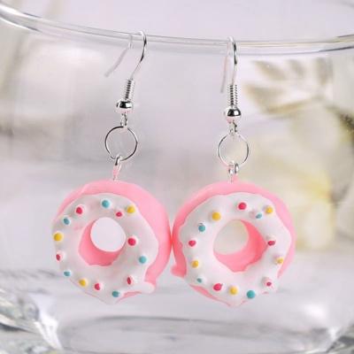 Kawaii Donut Charm Earrings