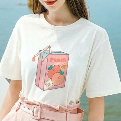 Kawaii Peach Milk Aesthetic Tee