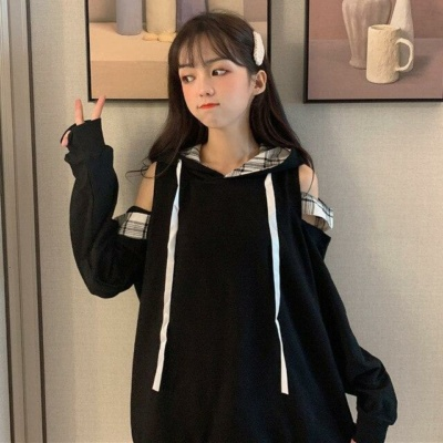 Kawaii Gamergirl Off-Shoulder Oversized Hoodie