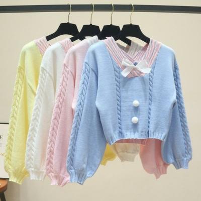 Kawaii Knitted Crop Top Sweater