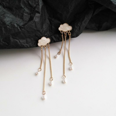 Kawaii Ditzy Cloud Drop Earrings