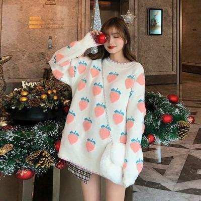 Kawaii Strawberry Fruity Girl Oversized Sweater