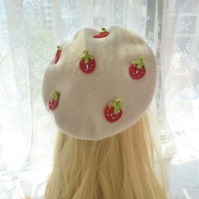 Kawaii Love Strawberry Beret