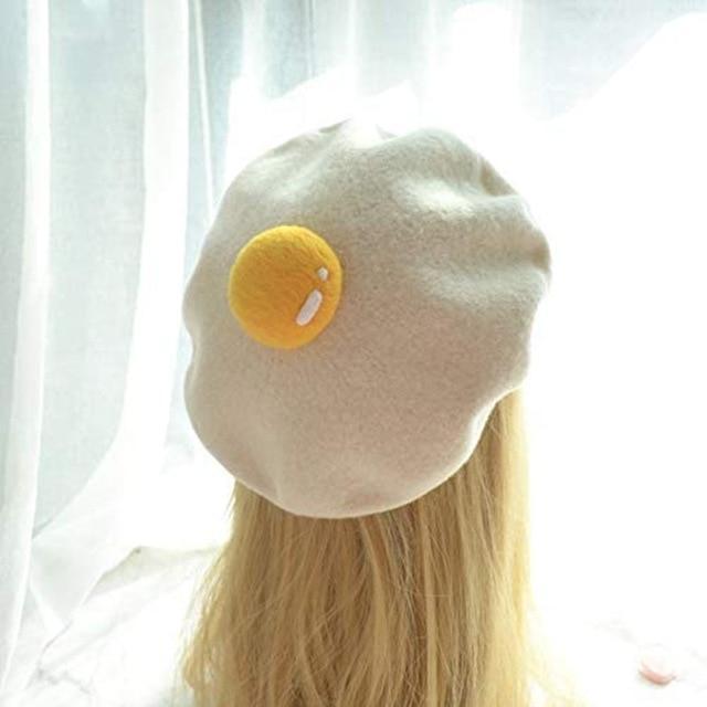 Kawaii Little Egg Candy Beret