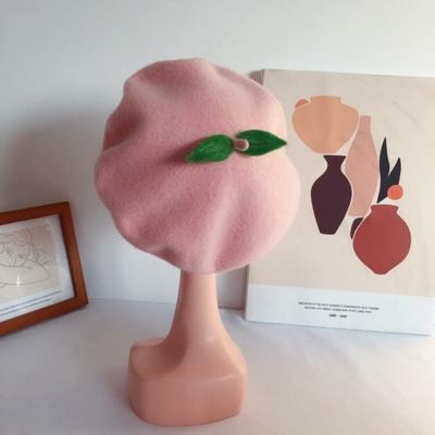 Kawaii Pink Peachy French Beret