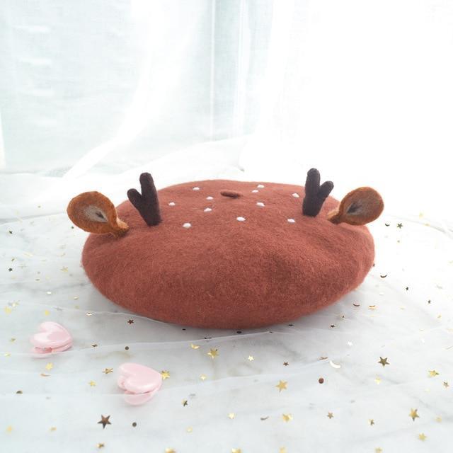 Kawaii Baby Deer Bambi Beret