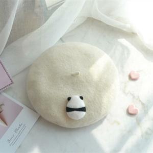 Kawaii Panda Cream Beret
