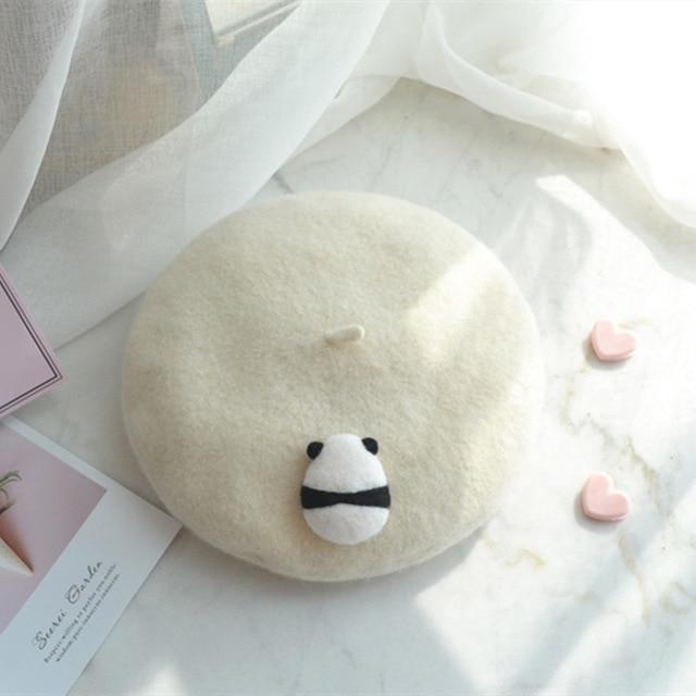 Kawaii Cream Panda Beret