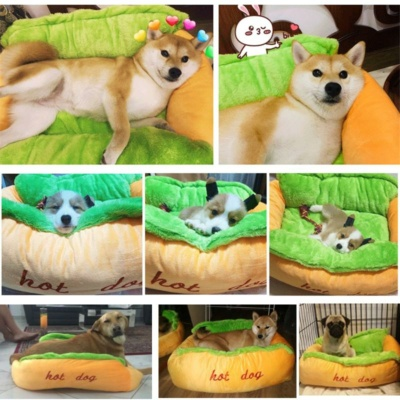 Kawaii Soft Hot Dog Bedding For Dogs & Cats