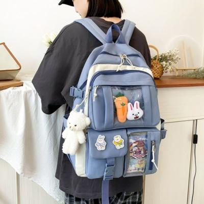 Kawaii Preppy Bunny Backpack 4 Pcs Set