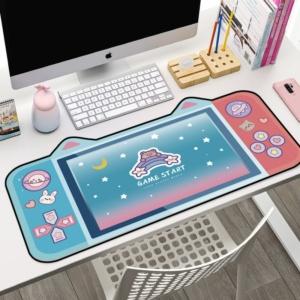 Kawaii Gamer Girl Mouse Pad