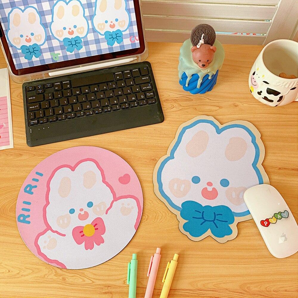 Ins Kawaii Soft Bear Mouse Pad Gamer Coaster Table Mat Girls Strawberry Bear Mouse Mat Cute School Supplies Table Mat