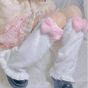 Kawaii Lolita Sweet Pink Bow Socks