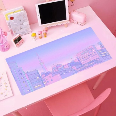 Kawaii Tokyo Skytree Pink Mouse Pad