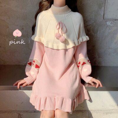 Sweet Lolita Knitted Ruffles Dress