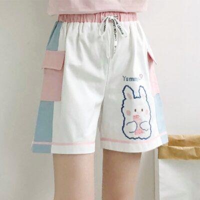 Kawaii Rabbit High Waist Shorts