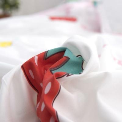 Kawaii Strawberry White Bedding Set