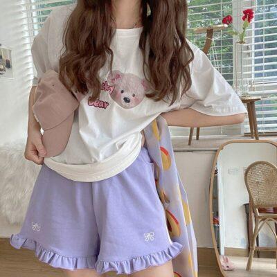 Kawaii Bowknot Style Shorts