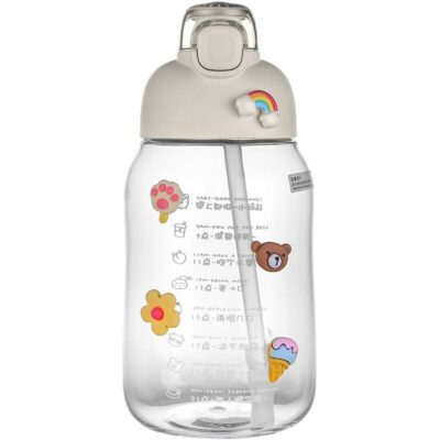 Kawaii 3D Stickers Water Bottle 1200ML