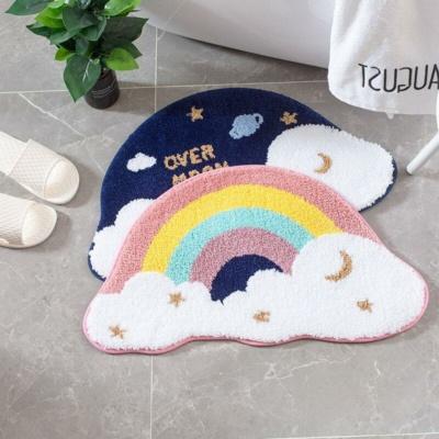 Kawaii Rainbow Starry Sky Non-Slip Carpet