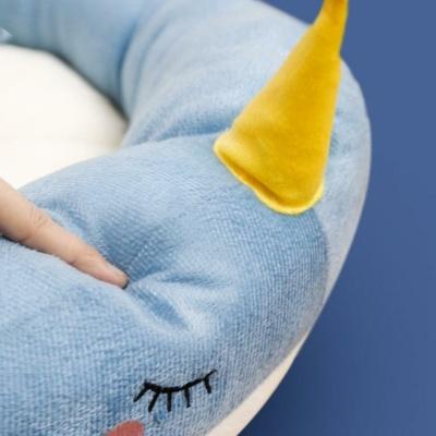 Kawaii Blue Narwhal Cat Dog Pet Bed