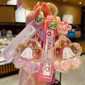 Sakura Bunny Keychain