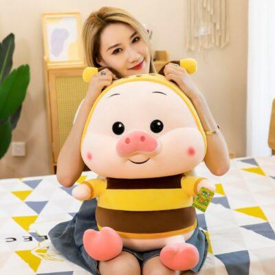 Kawaii Bee Dressed Pig Stuffed Plush Toy