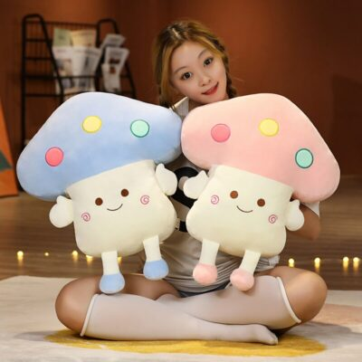 Kawaii Happy Mushrooms Plush